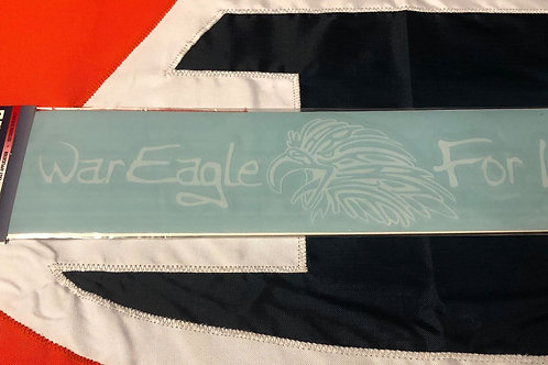 War Eagle for Life Decal - Large