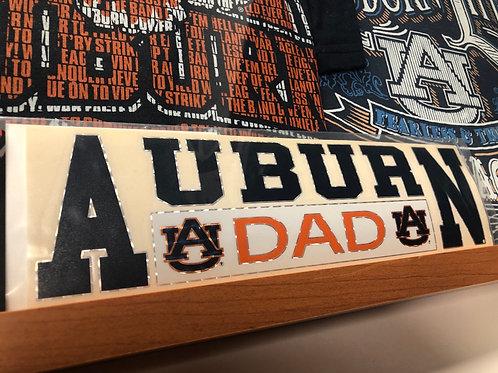 Horizontal Auburn Dad Decal