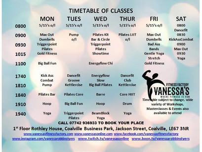 TIMETABLE CHANGES