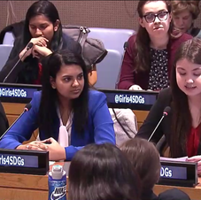 Erica presenting at the United Nations