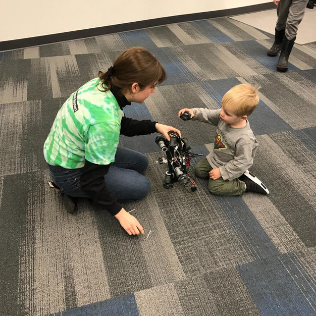 Building robots with kids