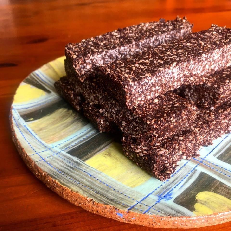 chocolate sesame seed slice