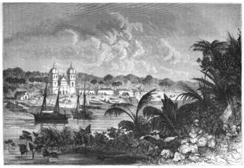 Vila Sant'Ana de Igarapé-Miri, por Edouard Riou, 1867