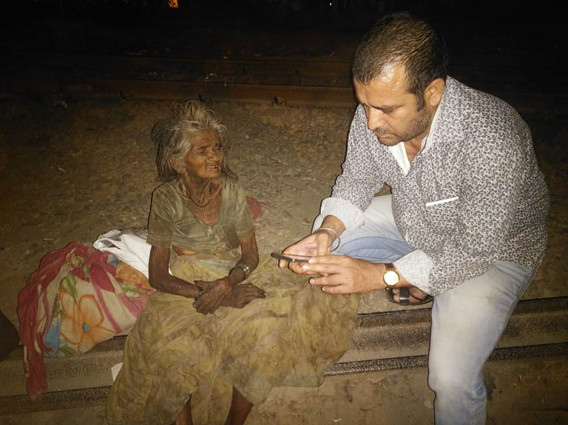 Counseling of Old age lady whom we rescu