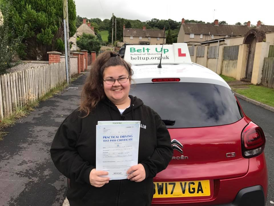 First Time driving test pass with Belt Up School of Motoring.