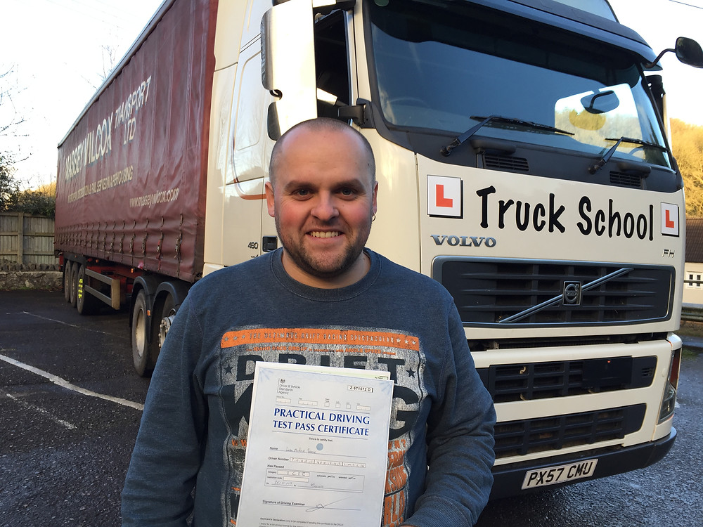 Liam passes Class 1 FIRST TIME with Truck School
