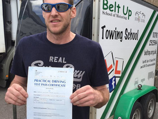 Shaun Bundy passed his car and trailer test FIRST TIME