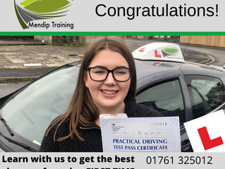 Lucy passes her driving test