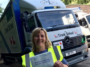 CONGRATULATIONS SANDRA ON SUCCESS WITH YOUR CLASS 2 LORRY LICENCE