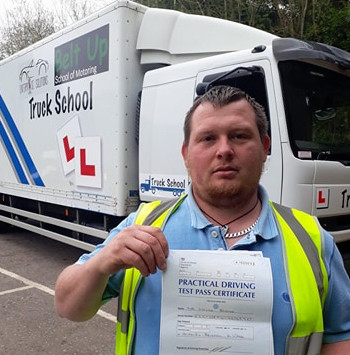 Wayne Barter passed class 2 FIRST TIME with Truck School