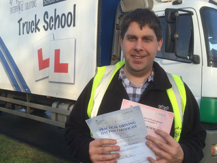 A FIRST TIME test pass for FIRST Bus driver John