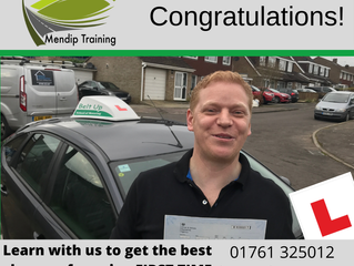 A FIRST TIME driving test pass for Chris Smith!