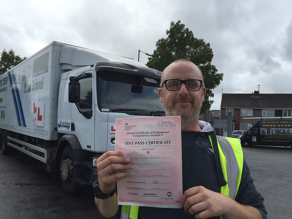 Dan passed his Mod 4 CPC FIRST TIME with Truck School