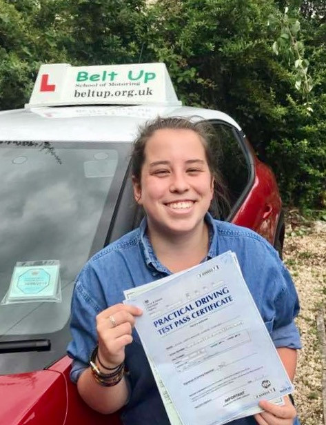 A Great test pass with Belt Up School of Motoring