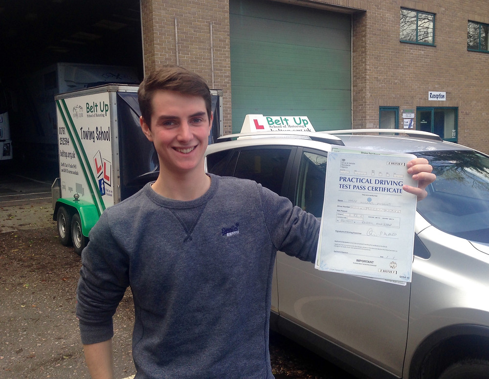 FIRST TIME car and trailer test pass with Belt Up School of Motoring