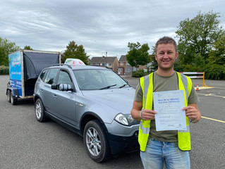 FIRST TIME car and trailer pass for Jamie Ford
