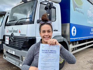 Another FIRST TIME double test pass for Truck School
