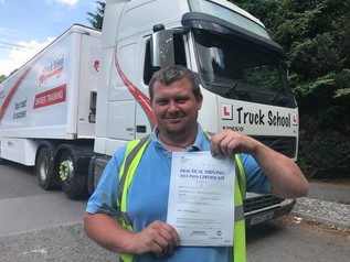 BRILLIANT NEWS FOR WAYNE ON ATTAINING HIS CLASS 1 LICENCE