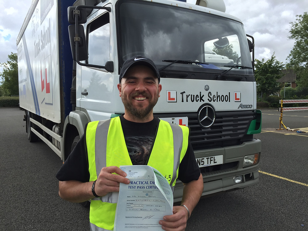Michal passes class 2 FIRST TIME with Truck School