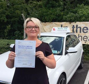 A well deserved driving test pass with Belt Up School of Motoring