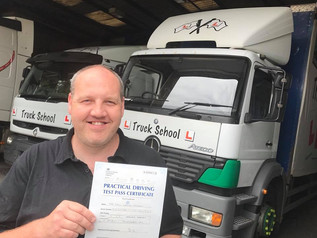 Many Congratulations  Paul on your Class 2 pass - from all of us here at Truck School