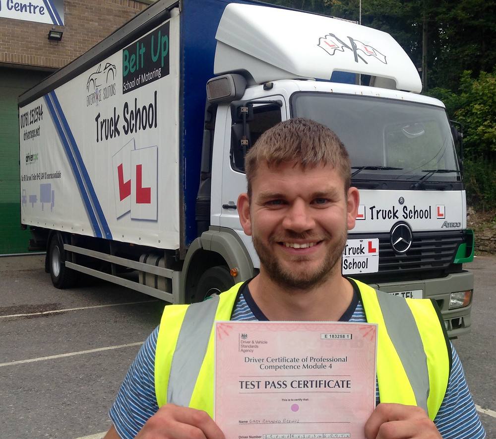 Gary Browne passed his Mod 4 CPC test FIRST TIME with Truck School