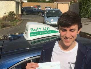 Jordan passes his driving test