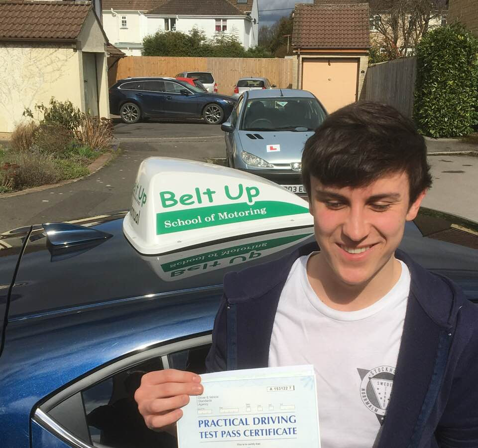 Jordan passes his car driving test with Belt Up School of motoring
