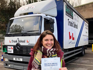 Amy Kirkman took and passed her class 2 test today and passed!