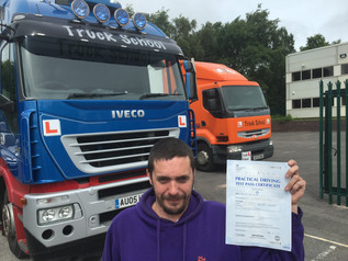 Chris drives from Darlington to pass FIRST TIME