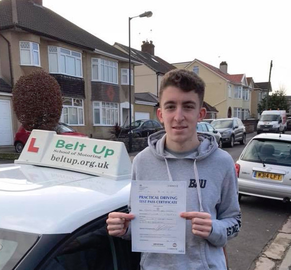 Joe Henehan passes driving test FIRST TIME with Belt Up School of Motoring Ltd