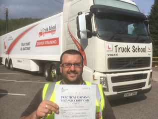 Success for Colin Cochrane ! Congratulations on passing your Class 1 Licence