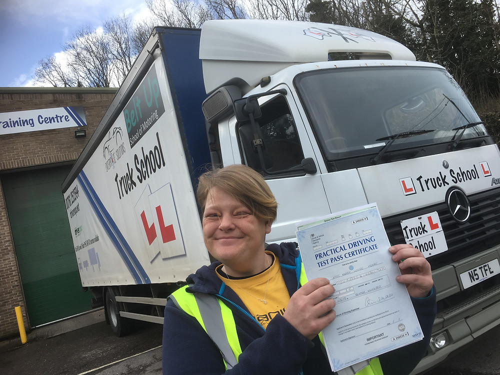 Kerry moore Class 2 test pass with Truck School