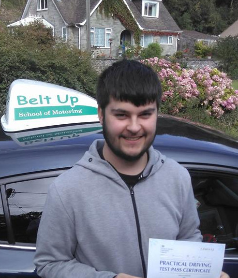 Kyle Weller passed his driving test with Belt Up School of Motoring