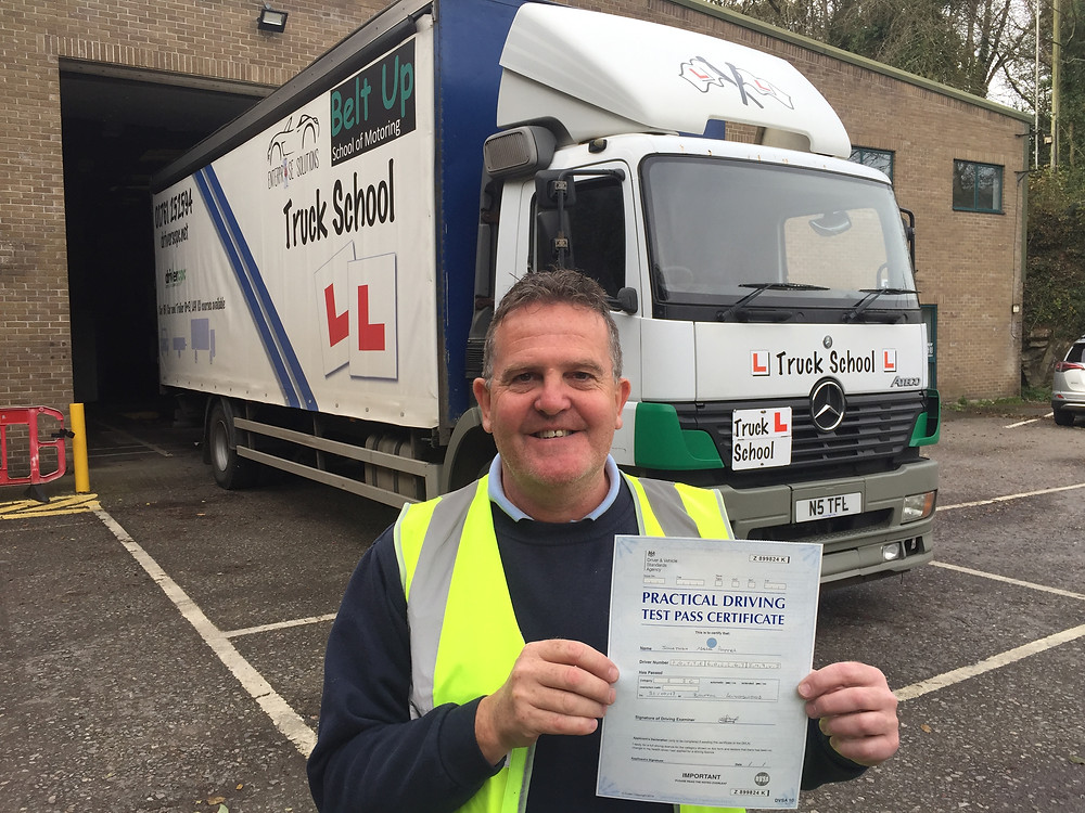 Jon Potter passes HGV class 2 test FIRST TIME with Truck School