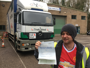 A funded HGV licence test pass FIRST TIME