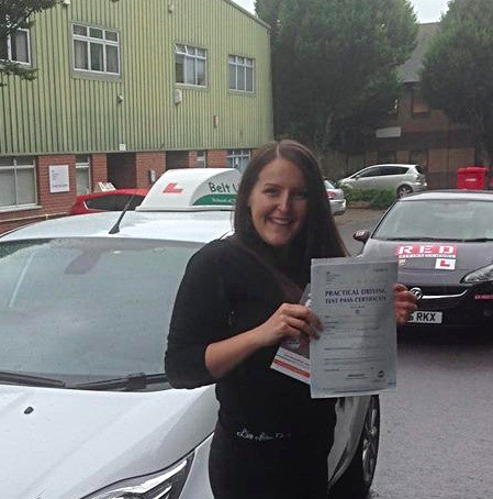 Patricia passes car test with Belt Up School of Motoring