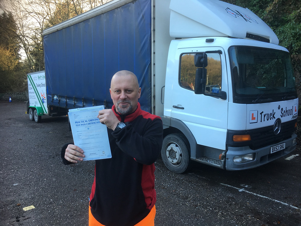 FIRST TIME C1+E test pass with Truck School