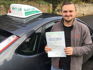 Chris passes his driving test FIRST TIME