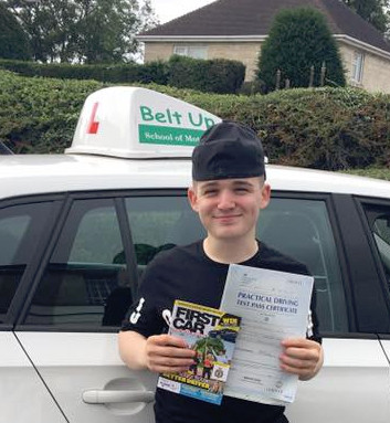Kian passes his driving test FIRST TIME with Belt Up School of Motoring