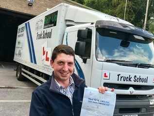 Robert Headd has successfully taken and passed his Class 2 licence with Truck School