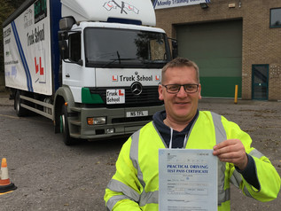 Mark smashes his way to an HGV licence
