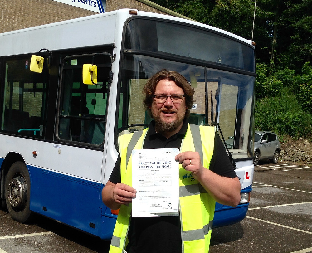 FIRST TIME bus test pass with Truck School