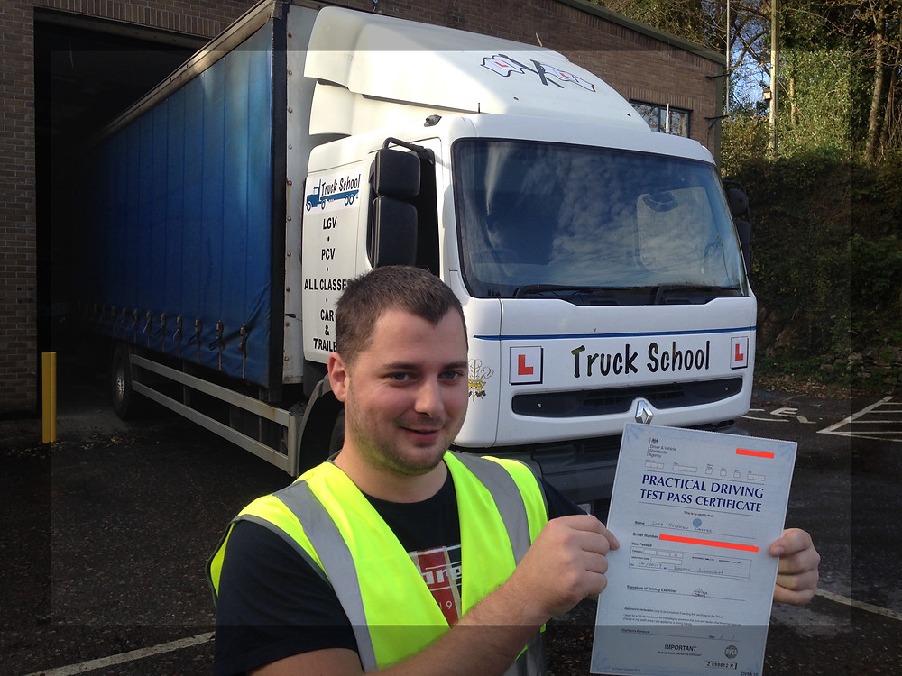 Luke Carter passed class 2 FIRST TIME with Truck School
