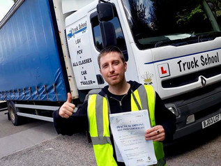 And another first time pass with Truck School for Thomas Maskell