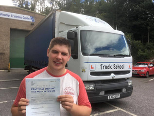 FIRST TIME test pass in the new lorry