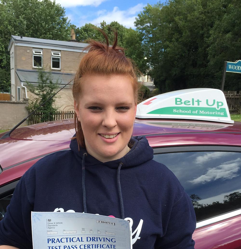 Bonita passed her driving test with Belt Up School of Motoring