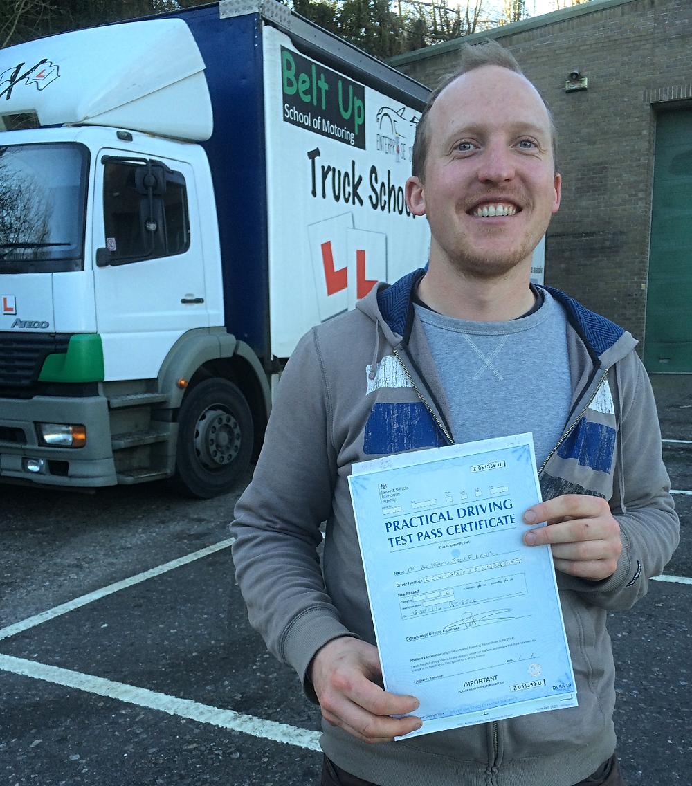 Ben Lewis HGV First time test pass
