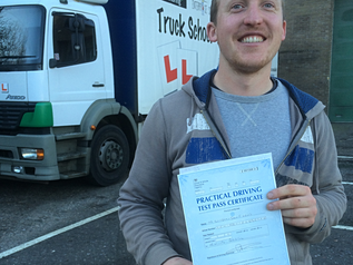 FIRST TIME for Ben and his HGV test