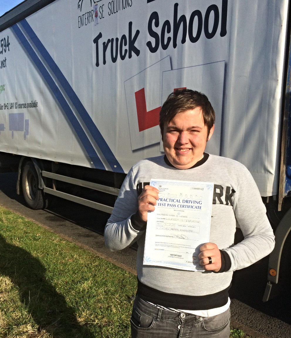 FIRST TIME class 2 test pass for Aaron